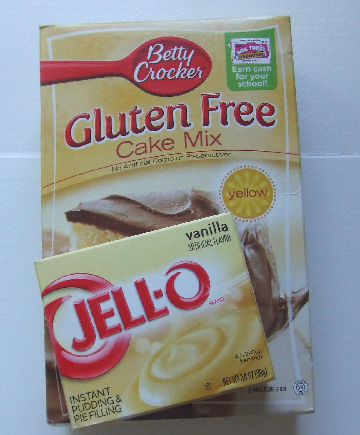 gluten free cake mix with pudding