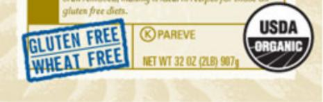 Arrowhead Farms Gluten Free Label