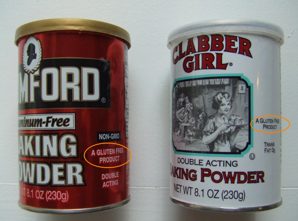 Rumford and Clabber Girl Baking Powder- Gluten Free